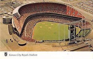 Missouri-postcard-Kansas-City-Royals-Stadium-aerial-view-baseball-field-game