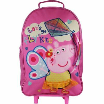 Peppa Wheeled Wheelie roll on roller luggage travel school bag