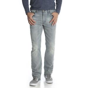 Wrangler-New-Light-Blue-Denim-Homme-Flex-Pour-Le-Confort-Classique-Coupe-Droite-Jeans