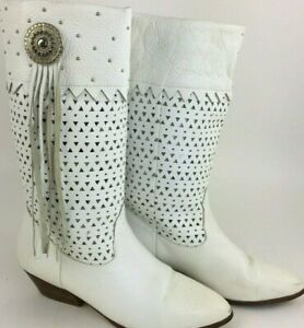 White Leather Boots Women's Boots