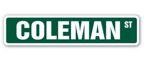 COLEMAN Street Sign Childrens Name Room Decal Indoor//Outdoor