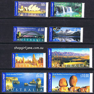 2000-Australia-International-Post-set-of-8-MNH