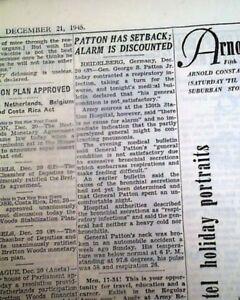 GEORGE-S-PATTON-World-War-II-U-S-Army-General-Day-of-Death-1945-NYC-Newspaper