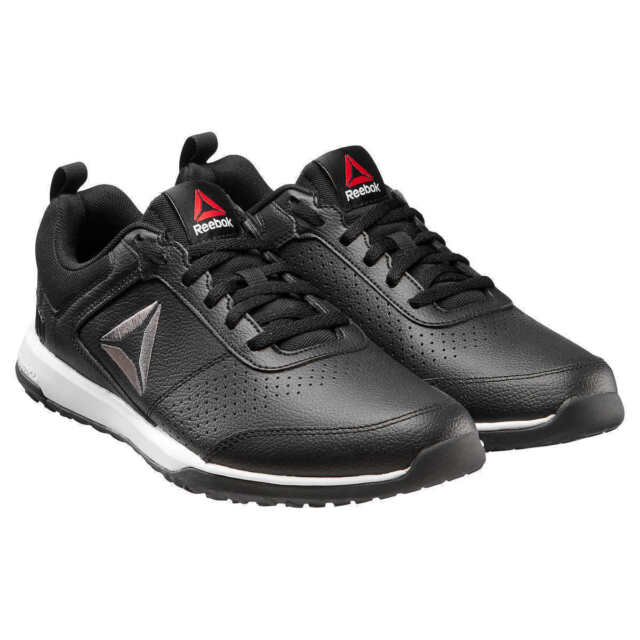56ffb16a7935 Men s Reebok Black Leather Lace up Shoes 9.5 CXT Trainer Athletic Cn4546