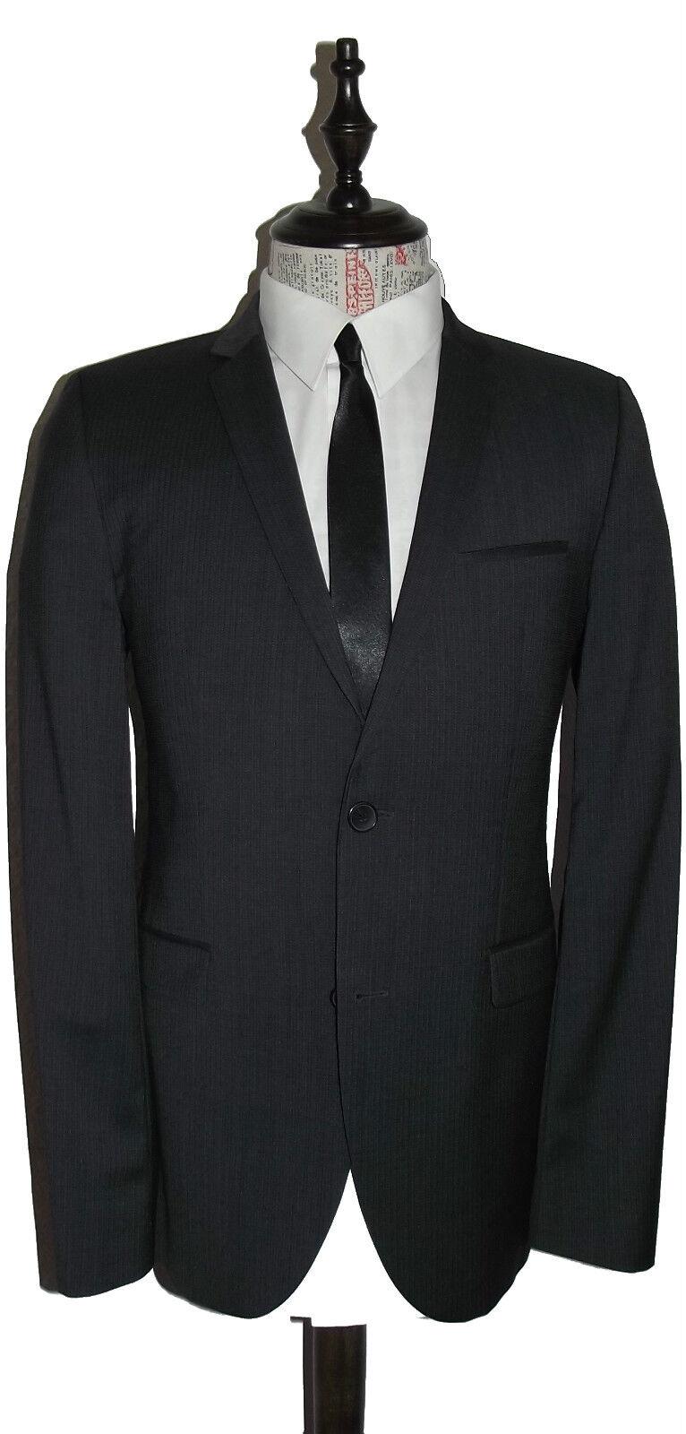 HUGO BOSS Luxus Anzug Gr. 98 Adris/Heibo1 Dunkelgrau NEUWERTIG ROT Label NP: