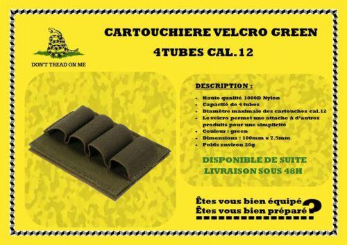 Cartouchière GREEN 4 tubes cal.12 tactique