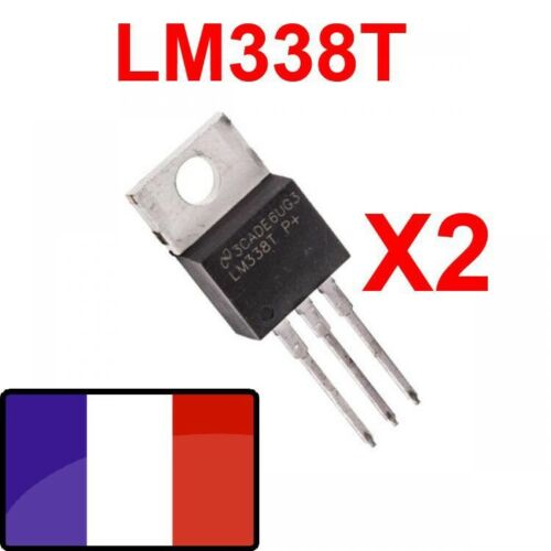 LM338T lot 2x Régulateur linéaire TO-220 National Semiconductor  lot de 2pcs