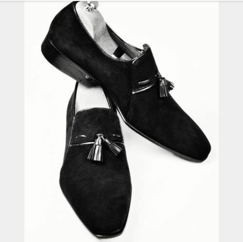 Mens Oxford Fashion Suede Leather Boots Handmade Brogue Suede Dress Formal shoes