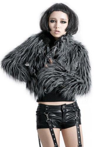 Veste courte gothique gothique gothique lolita punk cyber fourrure longue sangles hiver Punkrave G b3e57e