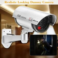 Camara de Vigilancia Simulada Falsa Inalámbrico Impermeable Luz LED y Rotacion
