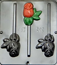 Rose Lollipop Chocolate Candy Mold  209 NEW