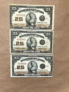3-1923-DOMINION-25-CENT-SHINPLASTER-CAMPBELL-CLARK-NOTES