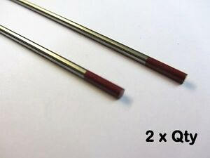 2/% Thoriated Red Tip Tungsten TIG 1.2mm-4.8mm Individual