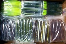 "50pc ASSORTMENT 5.5"" SENKOS Style Bass Fishing Lures, Worms Pro Soft Stickbaits"