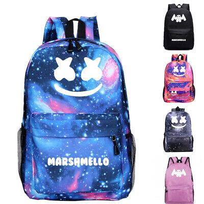 UK Boys Girls Marshmello Backpack Rucksack School Bags Travel Laptop Mask DJ Bag