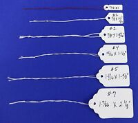 Blank Pre-strung Merchandise Price Tags White Variety Of Sizes & Quantities