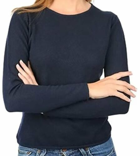 Balldiri 100/% Cashmere pull femmes col rond 2-fädig ECRU xs