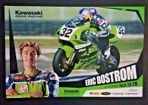 Vintage Poster Kawasaki Motorsports Eric Bostrom Ninja ZX-7R Red Bull