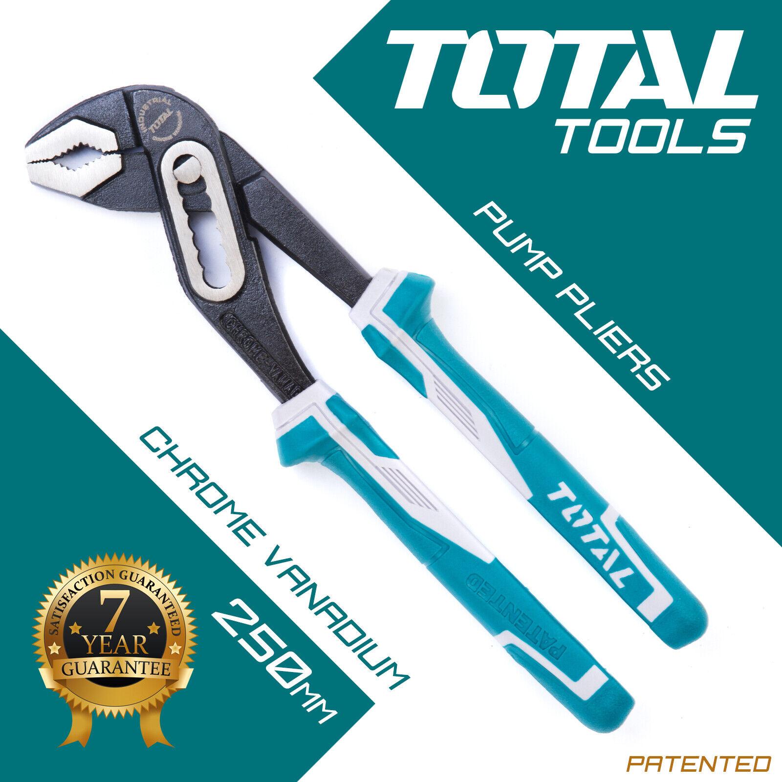 Alicates de la bomba de agua mandíbula delgada de acero y herramientas llave Grips-total