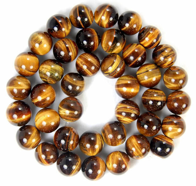"10mm Yellow Blue Tiger Eye Gems Round Loose Beads 15/"" Natural AAA++"