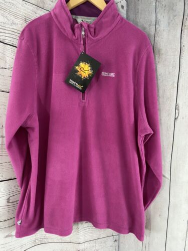 New Regatta Women's Sweetheart Half Zip Fleece Top Pull Over Pink Size 20  New