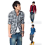 Men-039-s-Classic-Casual-Plaid-Shirt-Fashion-Long-Sleeve-Button-up-Cotton-Shirt-Top thumbnail 2