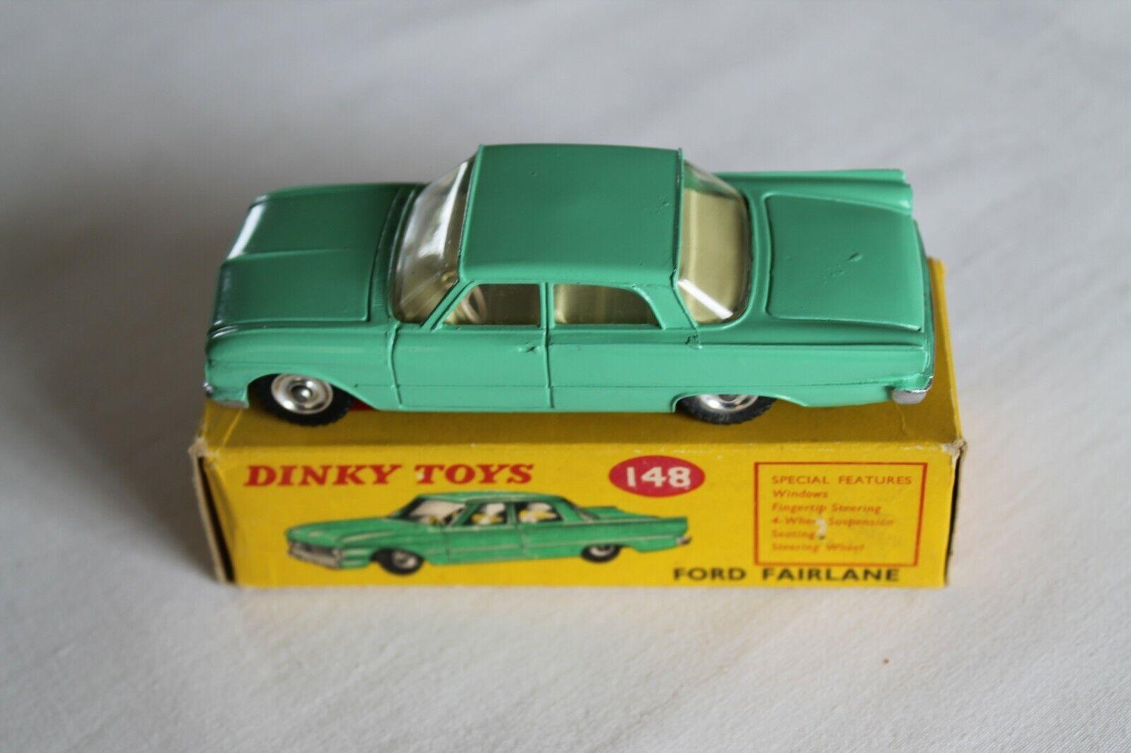 comprar mejor Dinky Juguetes Juguetes Juguetes 148 Ford Fairlane Pea verde-Limón Interior  venta directa de fábrica