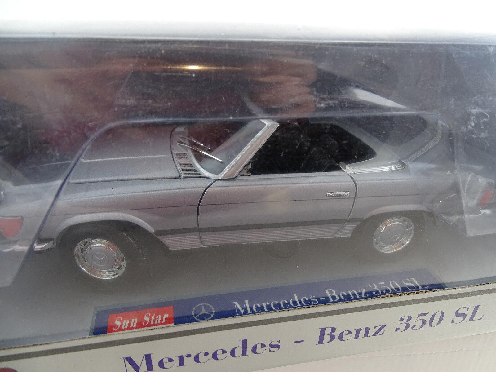 1 18 Sunstar Mercedes Benz 350 SL cabriolet argent rare