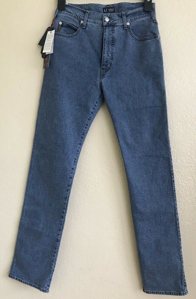 Armani Jeans Mens 28x33 J31 Regular Fit Comfort Fabric Denim Jeans Medium Wash