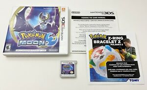 Pokemon-Moon-Nintendo-3DS-Game-Complete-w-Inserts-Tested-amp-Works-FREE-SHIPPING