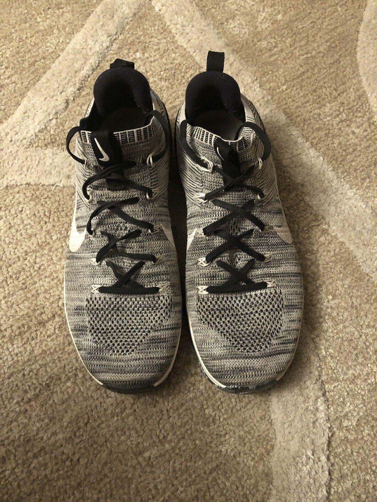 hot sale online 9b9cb 6caaa Nike Metcon DSX DSX DSX Flyknit2 Men SZ 12 Cross Training Matte Silver Sail  924423-
