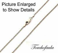 14k Solid White Gold Sparkling Diamond Cut Tornado Chain 16 Inches 2.0 Grams