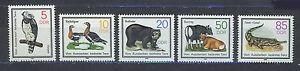 ALEMANIA-RDA-EAST-GERMANY-1985-MNH-SC-2481-85-Wildlife-preservation