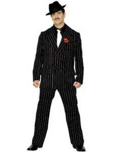 20s-1920s-Gangster-Zoot-Suit-Mens-Fancy-Dress-Costume-M-38-40-034-Black-by-Smiffys
