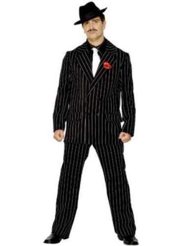 mens zoot suit 1920s gangster mafia fancy dress costume sizes m l ebay