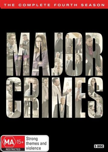 1 of 1 - Major Crimes : Season 4 (DVD, 2017, 5-Disc Set) Like New R4 Pal