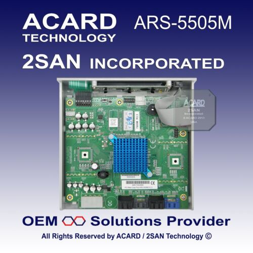 60MB//Sec ACARD ARS-5505M 1-to-5 SATA HDD//SSD//DOM Duplicator Controller