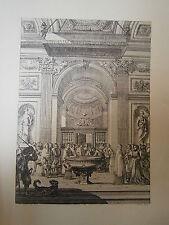 Planche gravure Jean le Pautre Cloture de chapelle