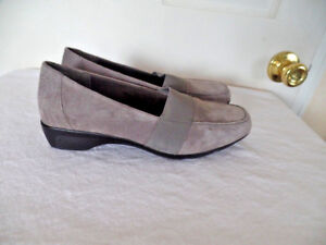 Image Is Loading 5TH AVENUE PLUSH BY EASY STREET GRAY SUEDE