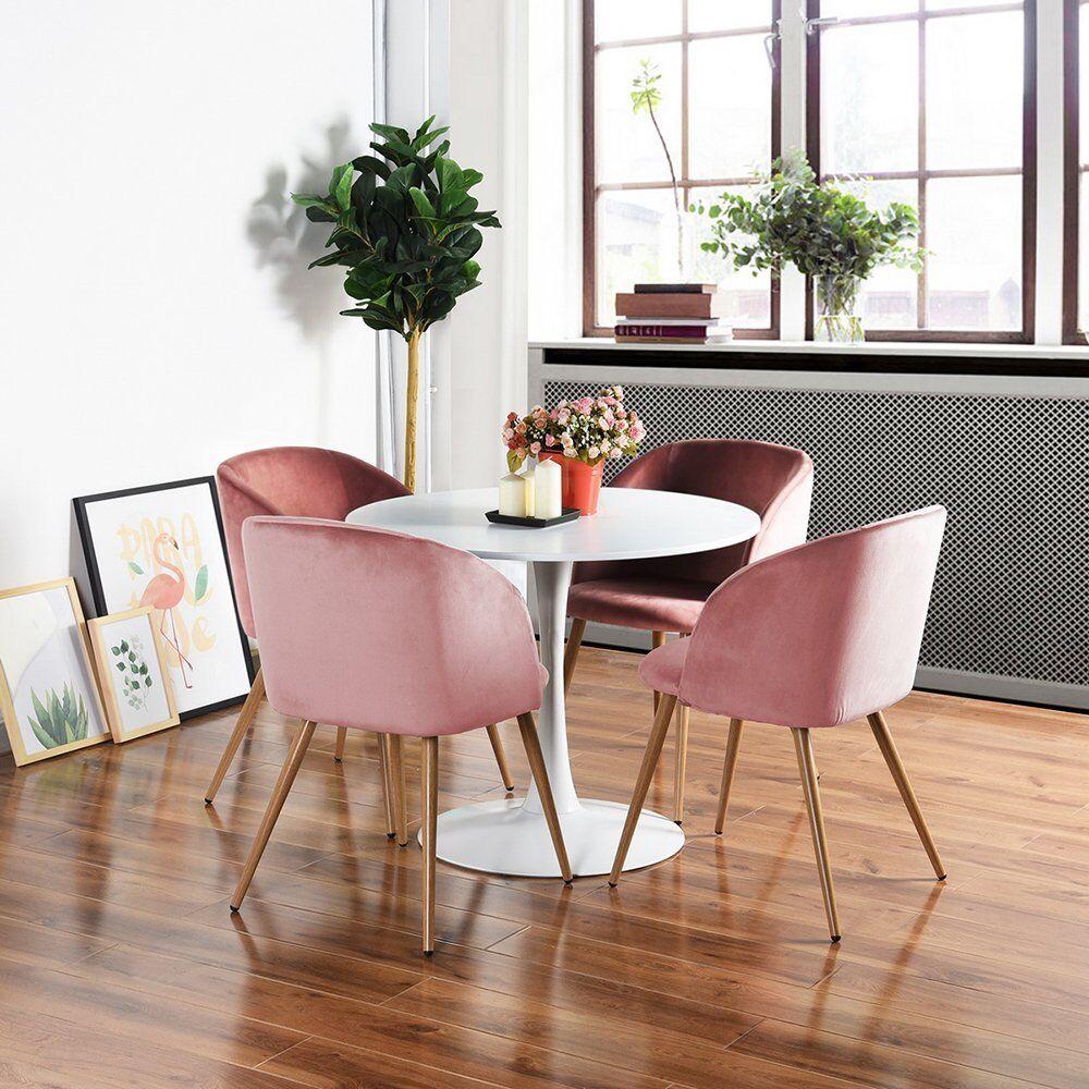 Salle A Manger Retro détails sur 4x fauteuil en tissu velours rétro fauteuil rembourré pour  salle à manger salle