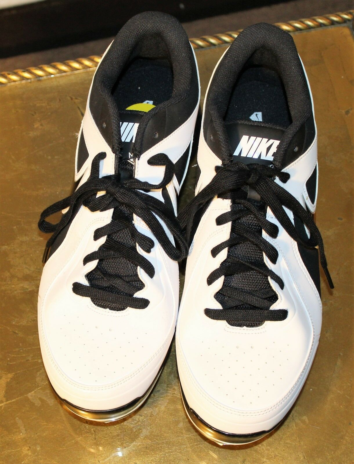 NEW SZ 13 homme NIKE Baseball MVP Pro faible Metal Baseball NIKE Cleats 524641-100 blanc/noir 7308ef