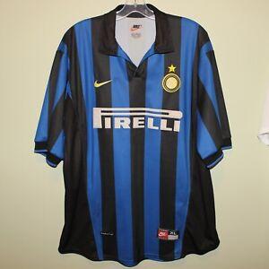 INTER-MILAN-1998-99-home-shirt-Nike-XL-maglia-soccer-jersey-maillot-Pirelli