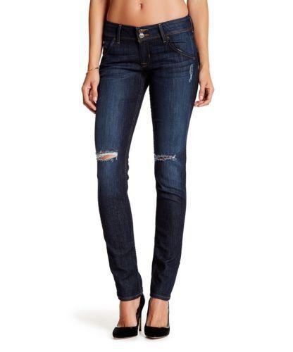 Hudson Collin Skinny Jeans  Boch  Distressed Dark Wash NW422ZNA 28 NWT