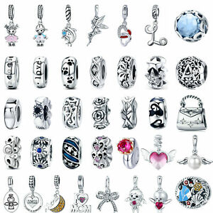Wostu-DIY-European-Beads-925-Sterling-Silver-Charms-Dangle-Pendant-Fit-Bracelet