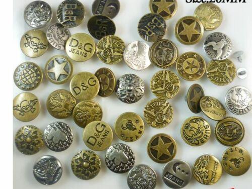 5-20 Jeansknöpfe zum Einschlagen 17-20mm bronze Jeans Hosenknopf Jackenknopf