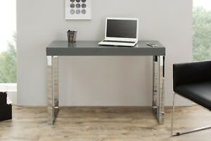console-BRILLANT-Gris-Fonce-Table-d-039-Ordinateur-Portable-de-bureau-120x40cm