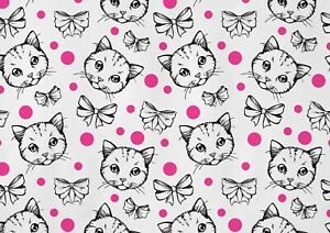 A1-Cute-Polka-Dot-Kitten-Poster-Art-Print-60-x-90cm-180gsm-Wall-Decor-13219