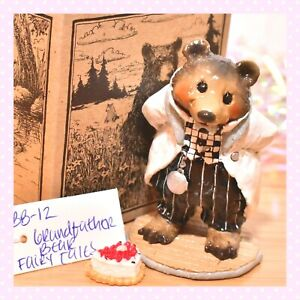 ❤️Wee Forest Folk BB-12 Grandfather Bear B&W FairyTales SPECIAL Limited to 100❤️