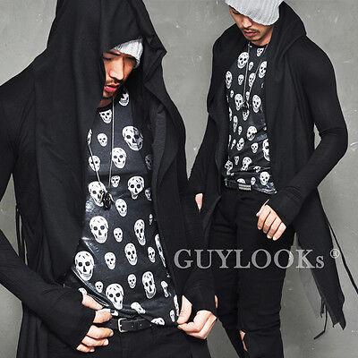 Built-in Warmer Triple Layer String Mens Slim Open Hood Jacket Cardigan Guylook