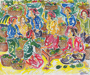 Hand-painting-Abstract-Market-Scene-274